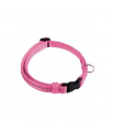 COLLAR REFLECTANTE AJUSTABLE DE NYLON, 15 MMX26-40 CM ROSA