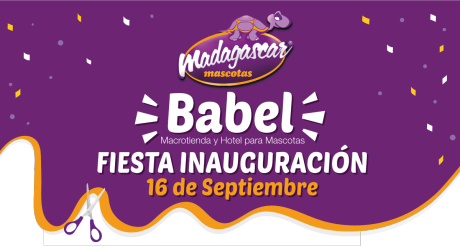 ¡Fiesta inauguración Madagascar Mascotas Babel!